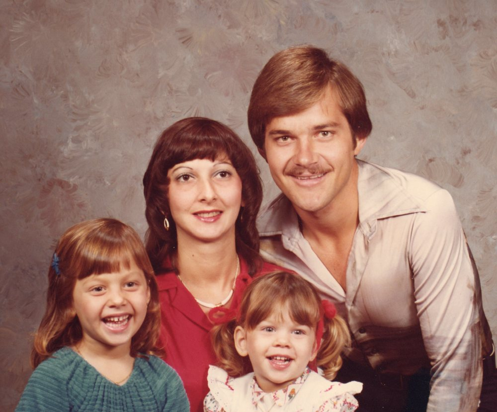 Valerie Melvin with her family circa 1980