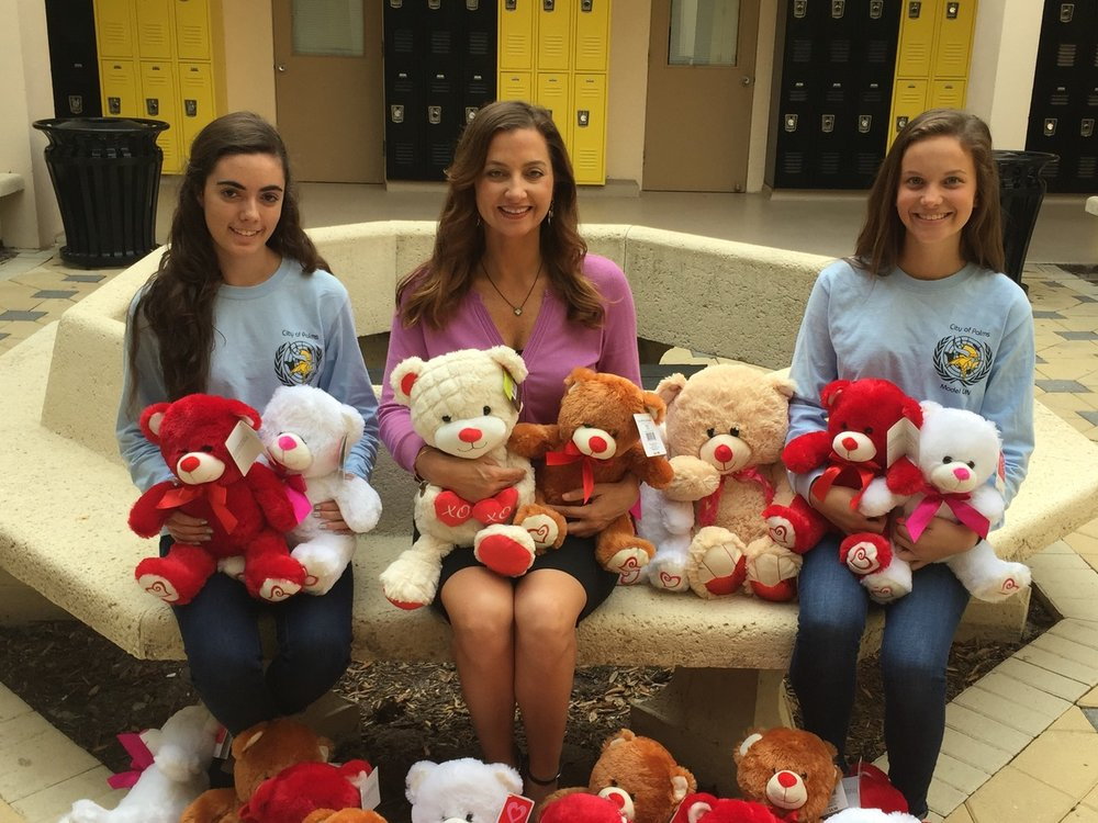 To help comfort with loss, children at Valerie's House have their choice of a teddy bear thanks to the students of Bishop Verot High School. .
