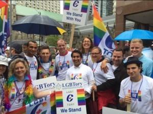 A group of Progressive Conservative supporters at Pride. Third from left is PC leader Patrick Brown (Facebook)