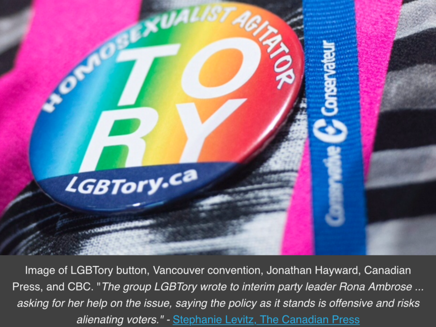 Alberta Conservatives back removal of same-sex ban from party policy - Stephanie Levitz, The Canadian Press