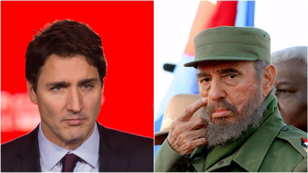 """Prime Minister Trudeau's praise for Castro was mocked on social media and some tweeted fake eulogies for other polarizing figures using the hashtag #trudeaueulogies. (Nicholas Kamm, Adalberto Roque/Getty)"" — CBC News"