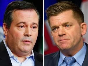 Alberta Progressive Conservative leader Jason Kenney and Wildrose leader Brian Jean. POSTMEDIA NETWORK