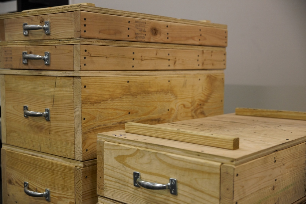 Wooden Jerk boxes.