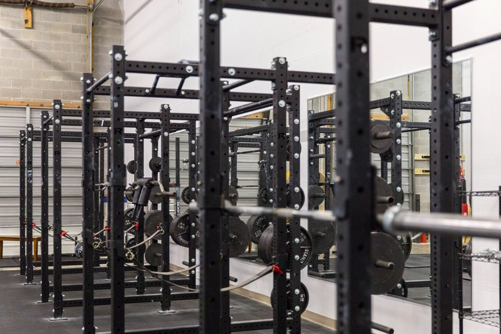 Six Power Racks.