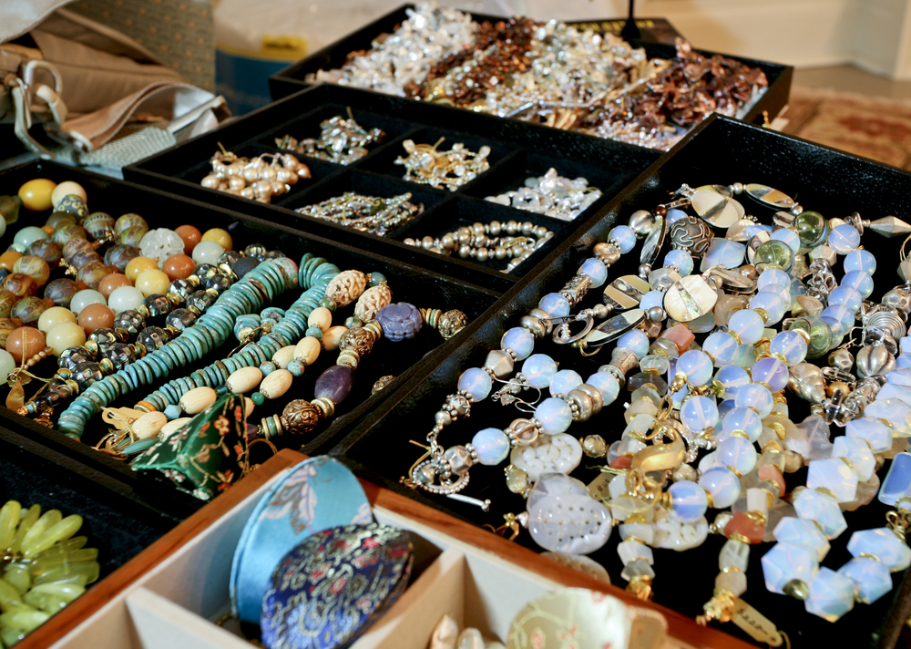 Packing up for a jewelry show, Touchstone by Touchstone, bead by bead.......