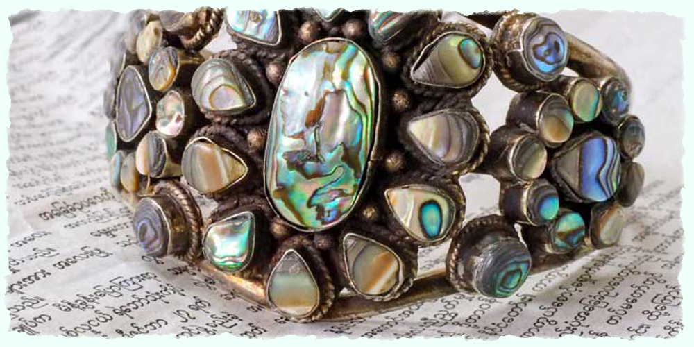 Far Away Finds abalone cuff bracelet - $240.
