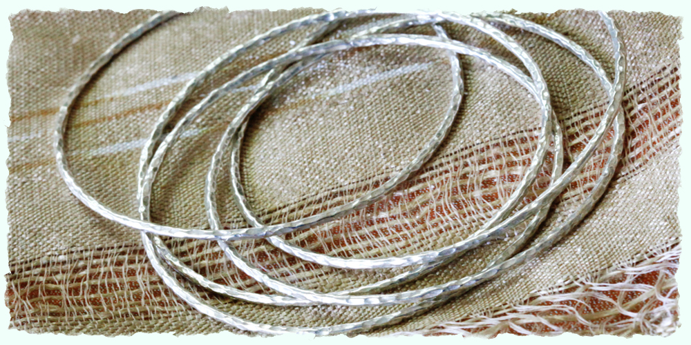 Far Away Finds sterling bangles