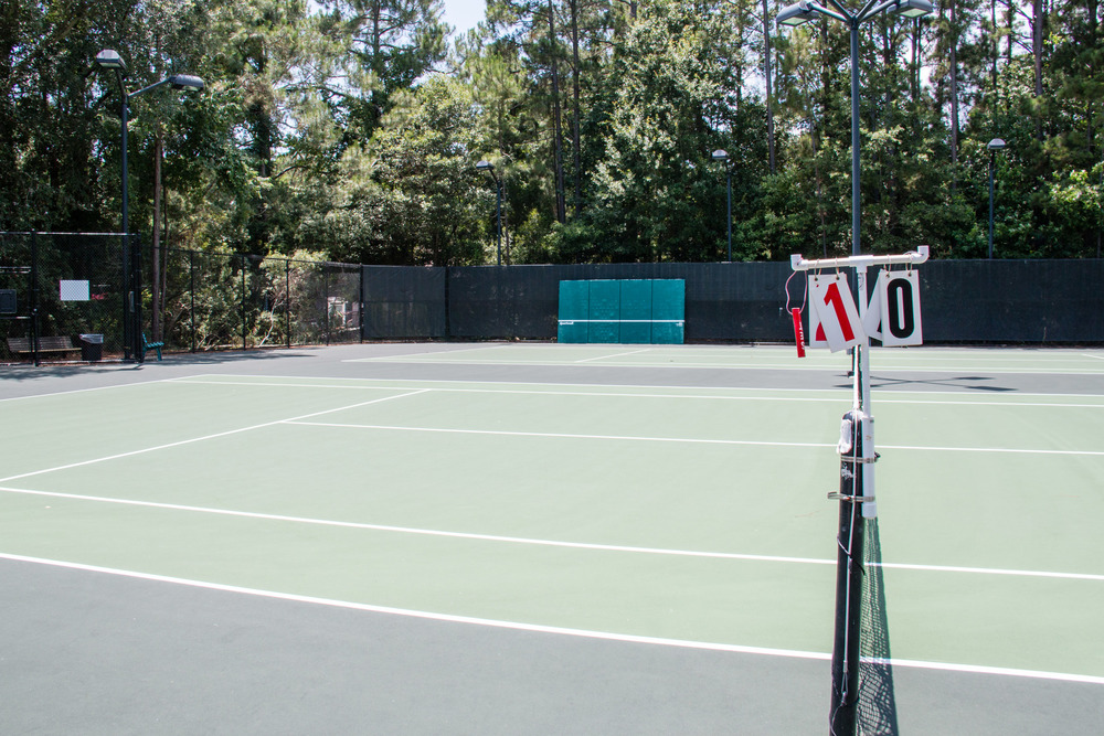 These two courts are located to the left of main building. Sport wall is on court 5