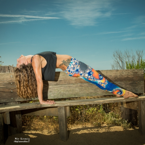 Wearing Om Shanti leggings above! Photo by Nir Livni.
