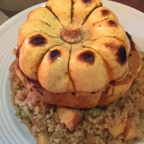 Vegan, Gluten-free Recipe for Sweet Dumpling Squash - a Fall Festive Entree or Side Dish!