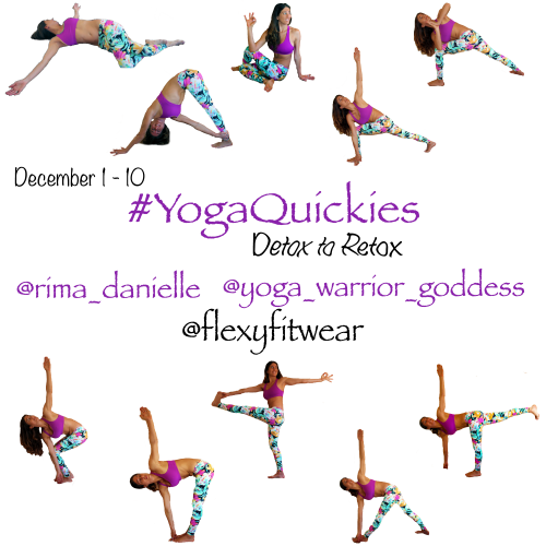 #YogaQuickies starts December 1st on Instagram. Follow @rima_danielle @yoga_warrior_goddess to play.