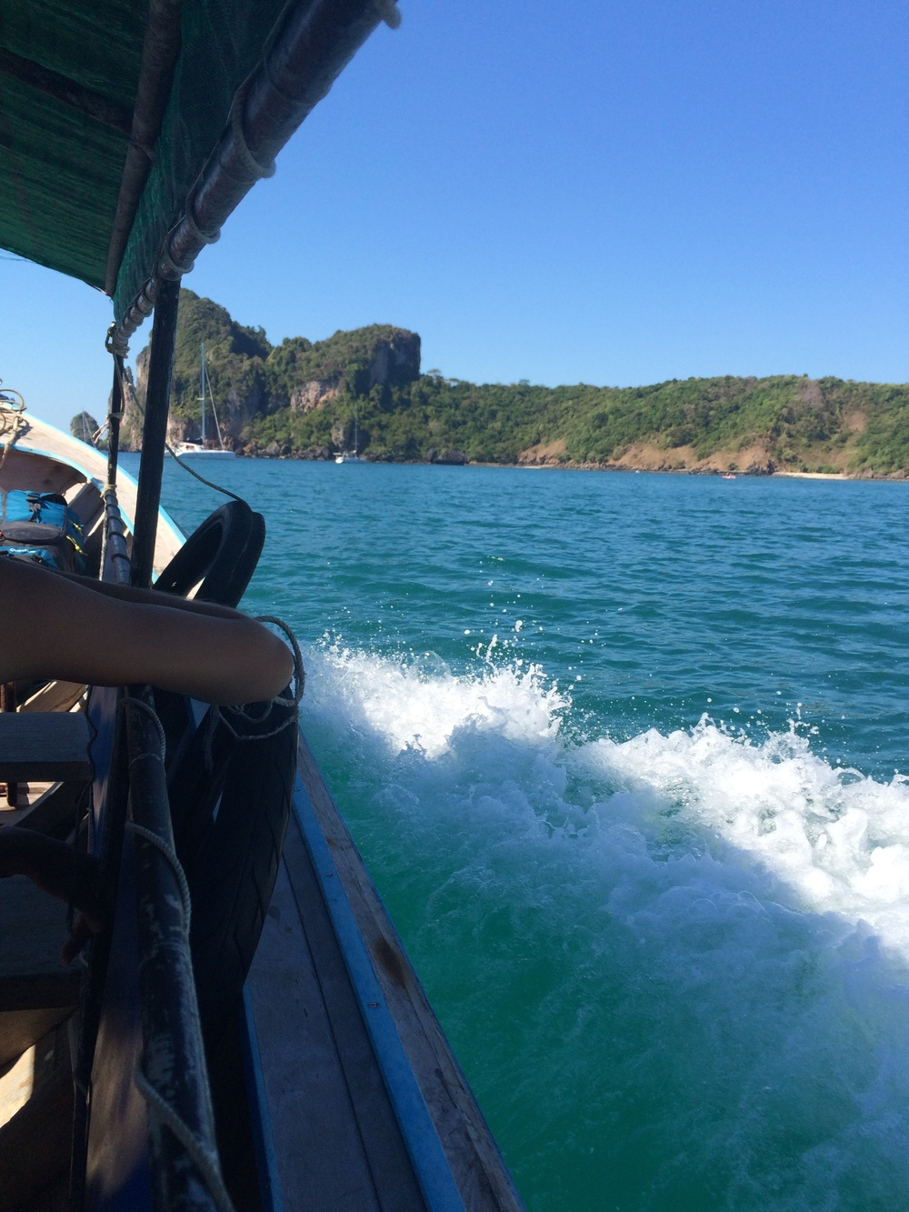 Taxi boat around the island to get to our hotel.