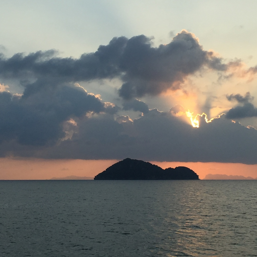 We watched the sunset on the ferry from Koh Tao to Koh Phangan.