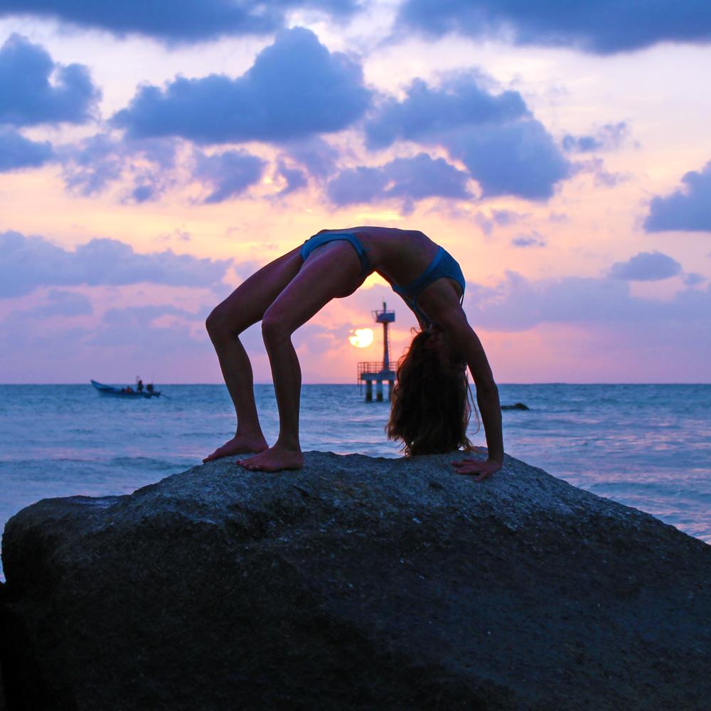 Yogi: @rima_danielle, Bikini: @miolasurf, on Koh Phangan,Thailand.
