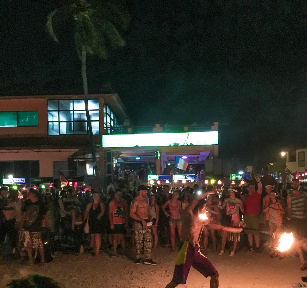 A fire dancer at the Full Moon Party in Koh Phangan.