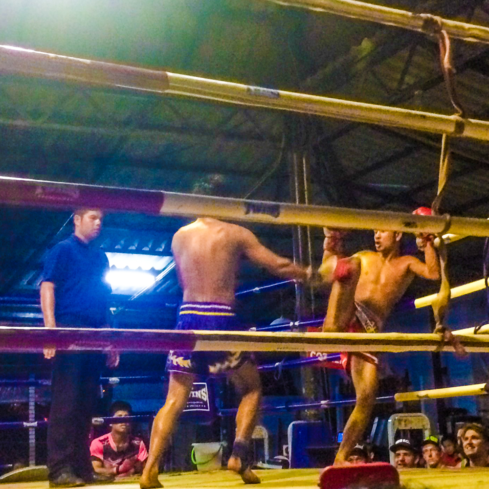 Authentic Muay Thai at Haad Rin Arena, Koh Phangan.