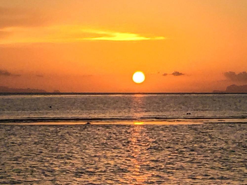 Gorgeous sunset in Ban Tai, Koh Phangan, Thailand. January 2016.