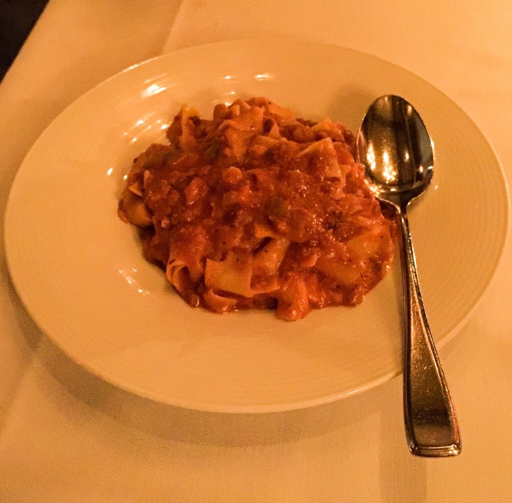 Tagliatelle Bolognese from Crossroads Kitchen on Melrose Ave.