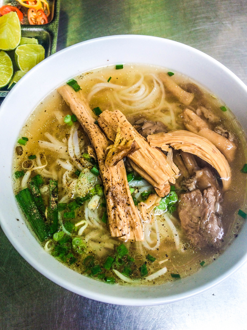 The big bowl of Pho from Pho Chay Nhu