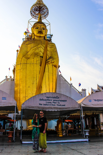 The very tall Standing Buddha.