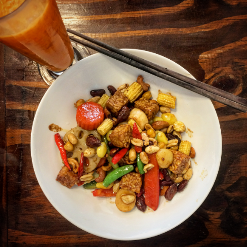 Tempeh Kung Pao - my favorite dish!