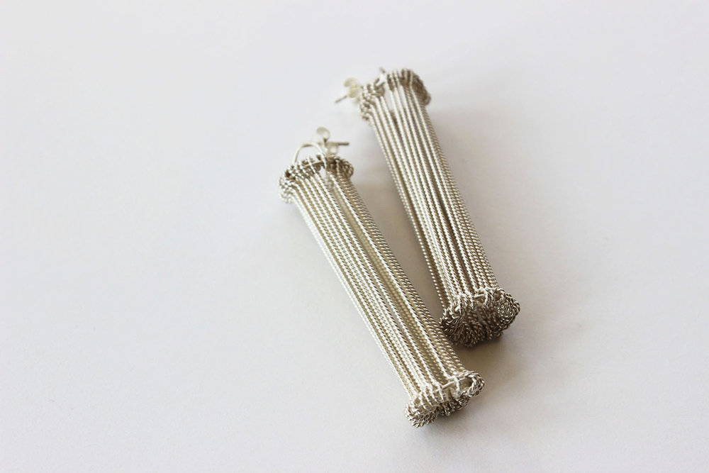 Heddle 2 Earrings, 2016, Silver, 60x10x10mm (1).jpg
