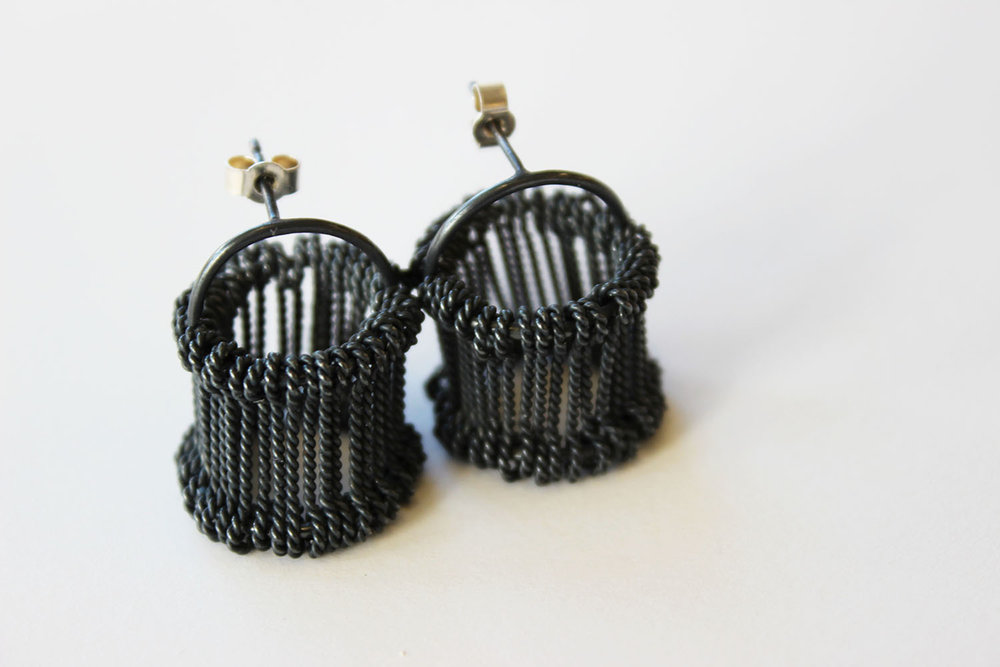 Heddle 3 earrings, 2016. Silver, 15x15x15mm (1).jpg