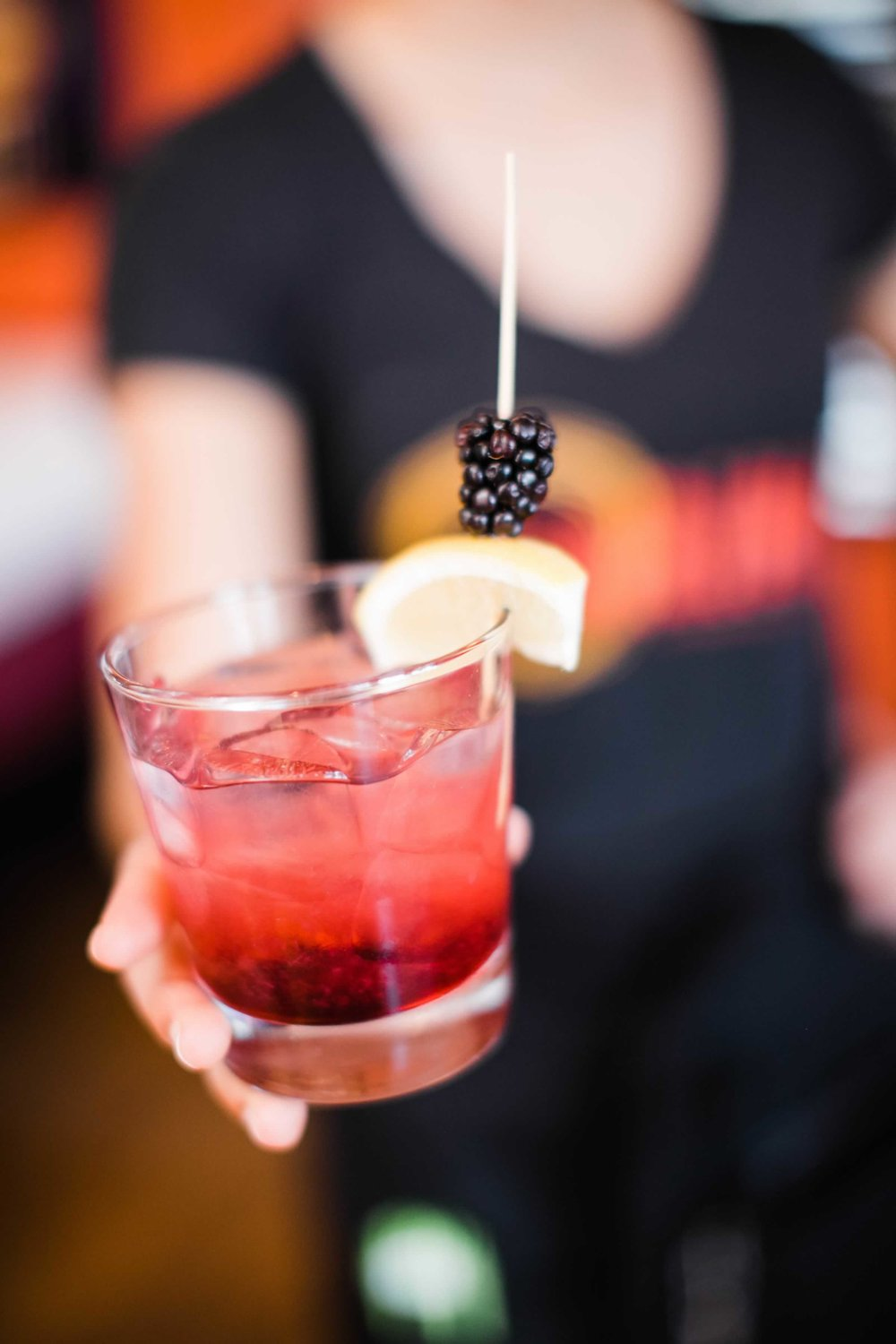 gin bramble - beefeater gin, blackberry reduction, simple syrup, lemon juice 13