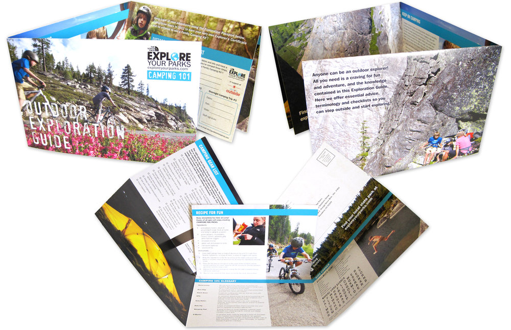 Mailer designed for Explore Your Parks, a partnership between The North Face and Good Solutions Group.