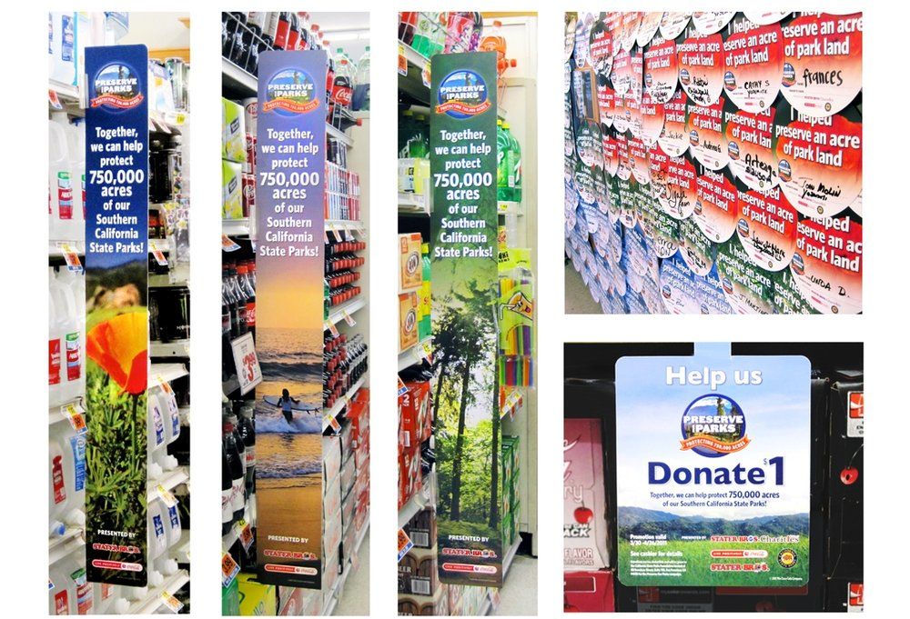 In-store promotional materials for Stater Bros./Coca-Cola partnership, designed on behalf of Good Solutions Group