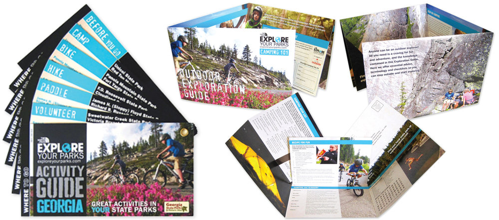 The North Face materials for outdoor education program, Explore Your Parks  Designed on behalf of Good Solutions Group