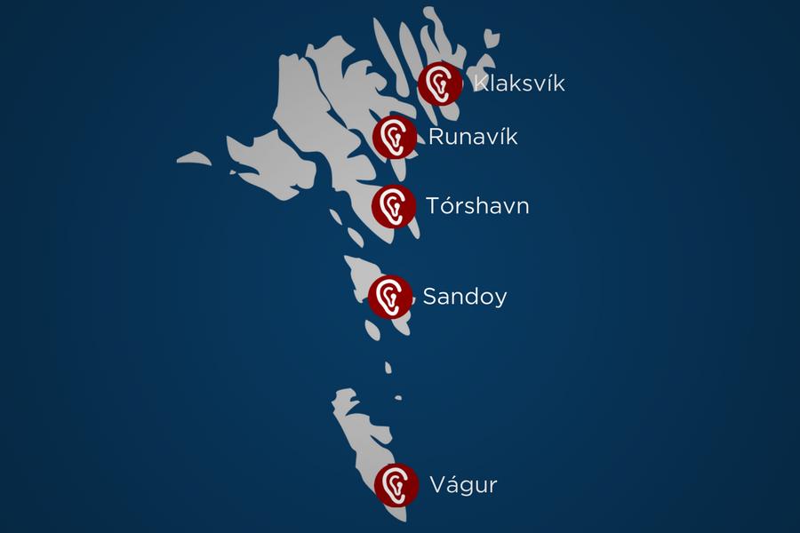 Hoyrnin kring landið - Hoyrnin er javnan at hitta í Suðuroy, Sandoy, Runavík og Klaksvík.