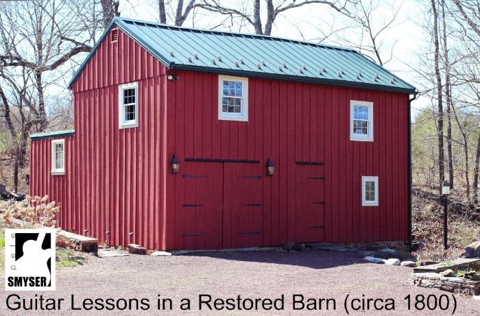 Smyser barn studio guitar lessons