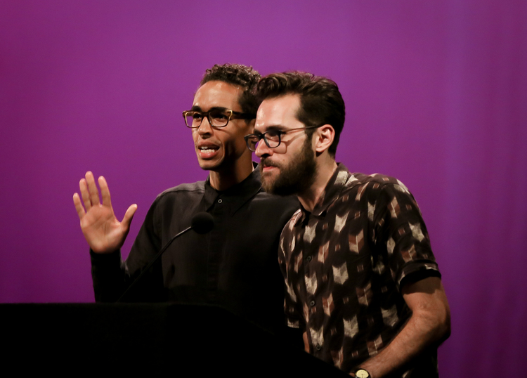 KYLE BELTRAN & ADAM CHANLER-BERAT. Photo Credit: Lee Wexler