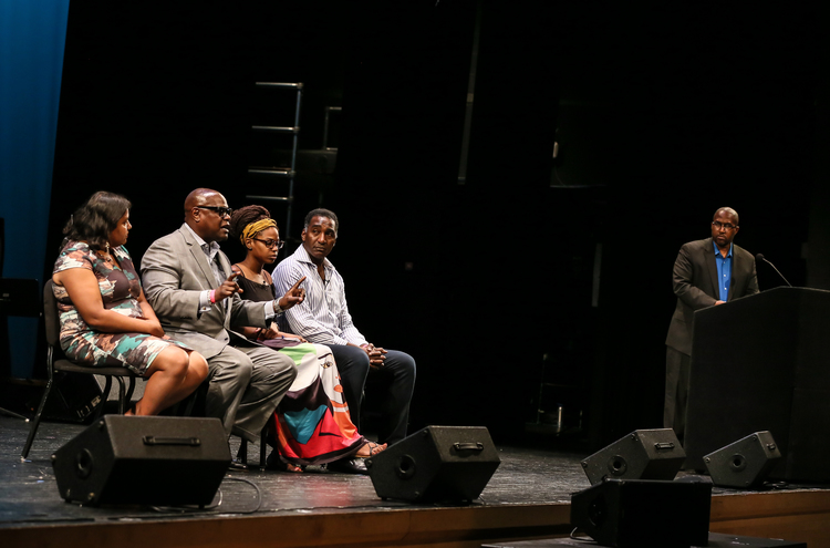 ANURIMA BHARGAVA, DAMON K. JONES, SHARLISA CUMBERBATCH, NORM LEWIS, RICHARD GRAY Photo Credit: Lee Wexler