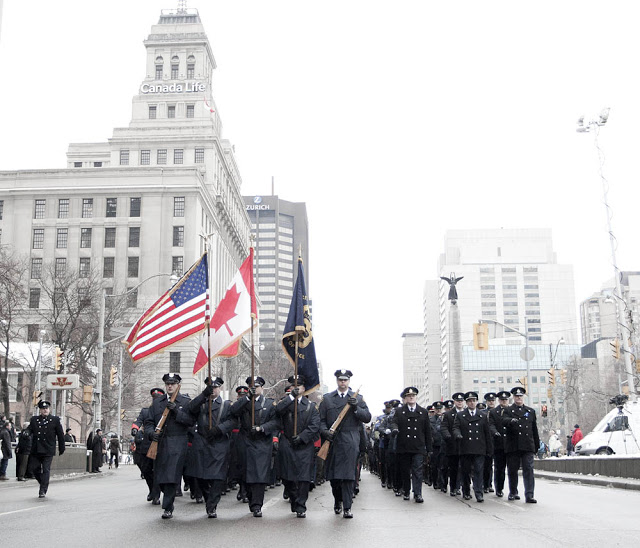 Sgt. Ryan Rusell's funeral procession