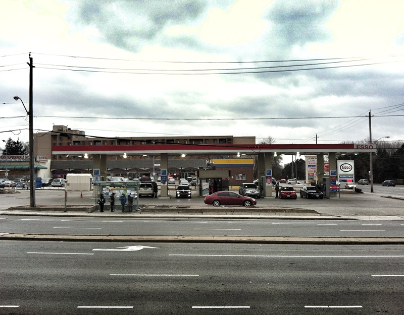Esso Gas Station at Sheppard and Jane in Toronto Ontario Canada