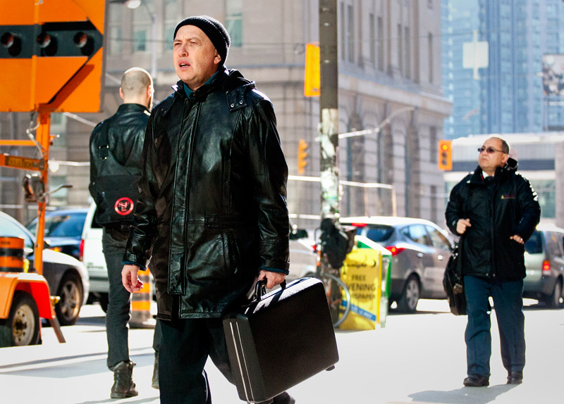 A business man on the Streets of Toronto