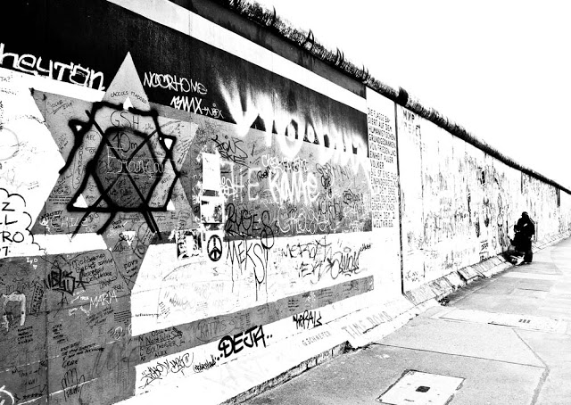 The Berlin Wall as seen in 2008, on the longest section of the wall