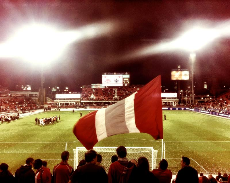 Toronto FC recieving the Championship Cup at BMO Field in Toronto, Ontario, Canada against the Vancouver Whitecaps. Shot by Dennis Marciniak of denMAR Photography on an iPhone 4