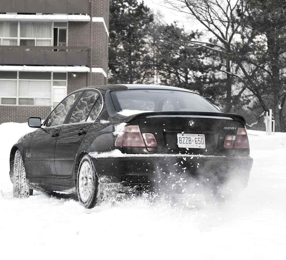 BMW 328i in the Snow