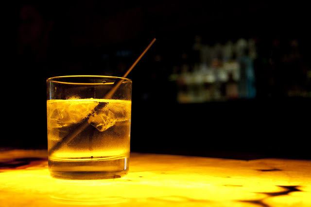 Vodka on the rocks at a bar in Toronto.