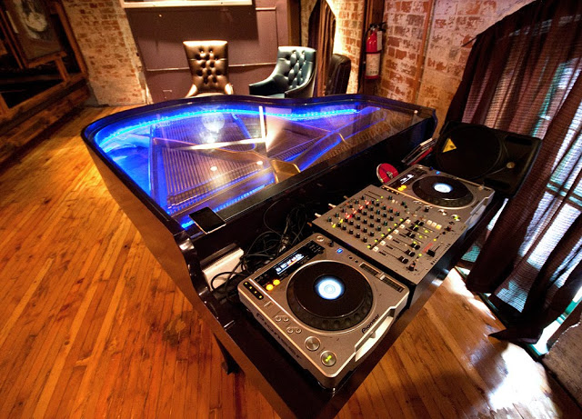 Turntables at a club lounge