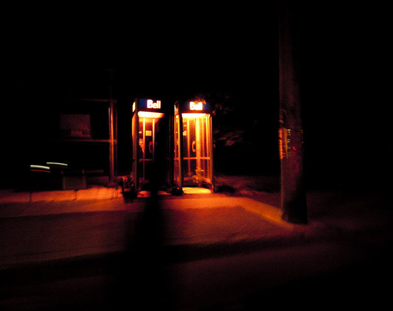 Bell Payphones at Night