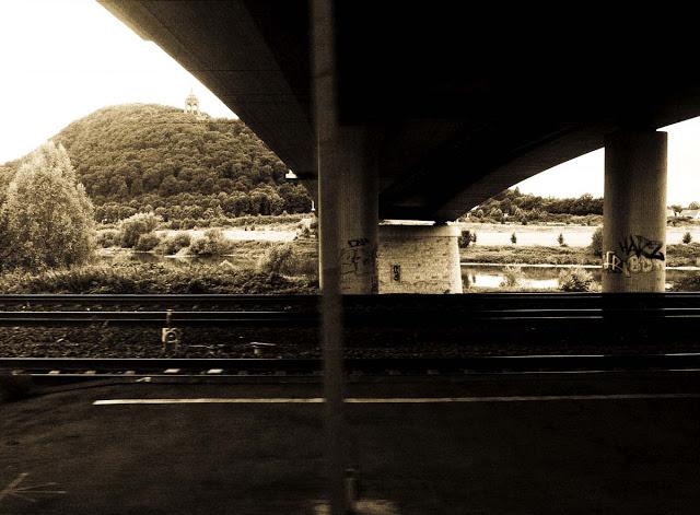 An ICe 3 train window shot