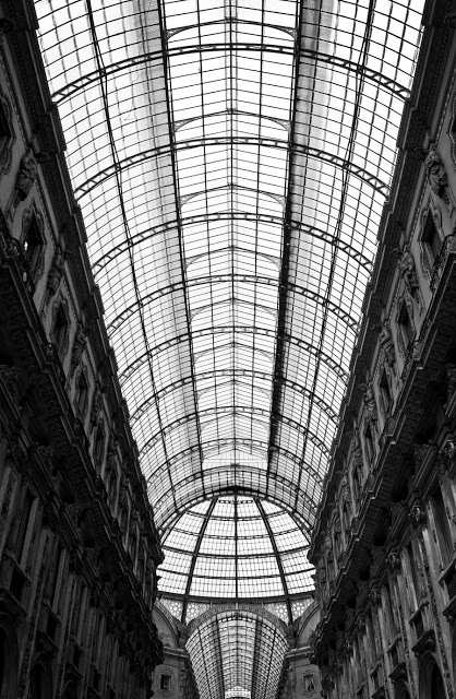 Galleria Vittorio Emanuele II in Milan, the oldest shopping mall in the world.
