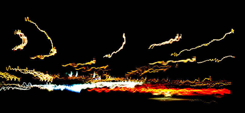 Abstract driving at night
