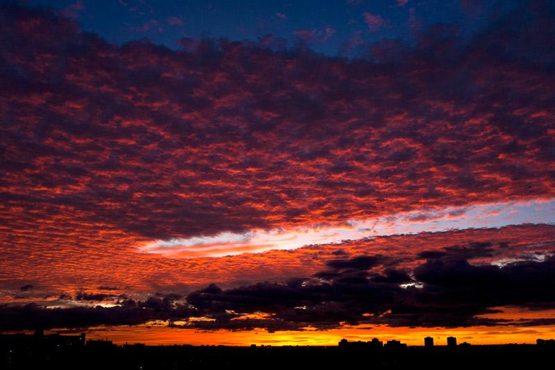 A beautiful sunset over Toronto