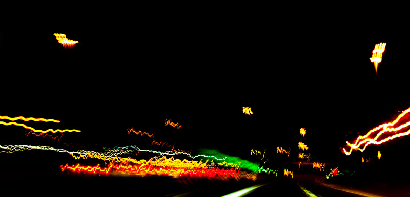 Driving at night on the 401