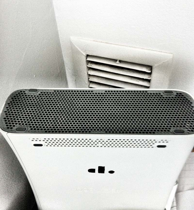 An Xbox 360 used as a vent blocker and stencil tester